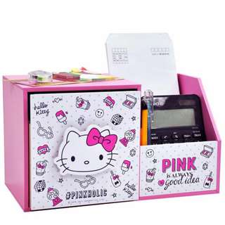 🚚 正版授權 Hello Kitty 收納盒 多功能收納櫃 收納 KT 三麗鷗 生日禮物 沂軒精品 U0003