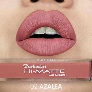 Purbasari Hi-Matte Lip Cream no. 02 Azalea