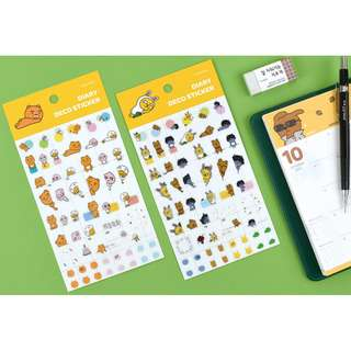 preorder: kakao friends DIARY DECO sticker set