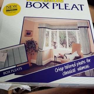 Box pleat curtain tape