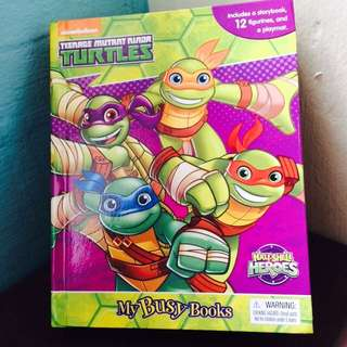 Teenage mutant ninja turtle - my busy book -12figurines + playmat