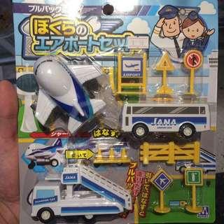 機場飛機運輸工具玩具套裝