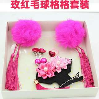 Last box CNY Hair Clip Set 唐朝格格发饰套装