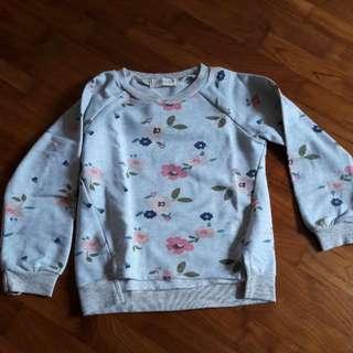 Pretty Girl size 11 sweater flora