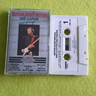 ERIC CLAPTON. and friends (British blues heroes. Cassette tape not vinyl record