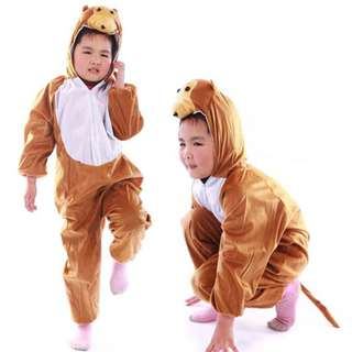 Deluxe Children Monkey Big Head Dress Costume Animal Fairytale Outfit