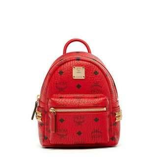 Auth MCM xmini stark bebe boo backpack in red😍😍😍