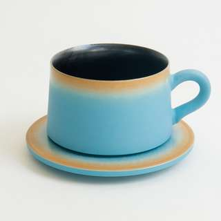 Lake Blue Cup with Saucer