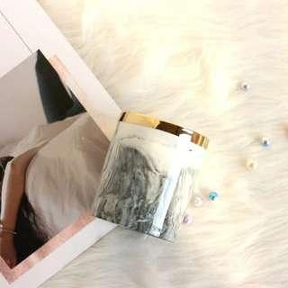 北歐經典大理石紋金邊化妝刷筒收納盒