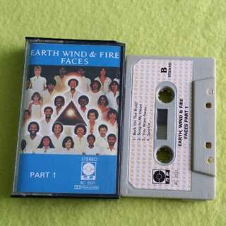 EARTH WIND & FIRE. faces part 1. Cassette tape not vinyl record