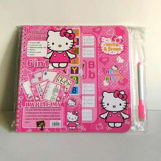 6 in 1 Hello Kitty Write & Erase Activity Book