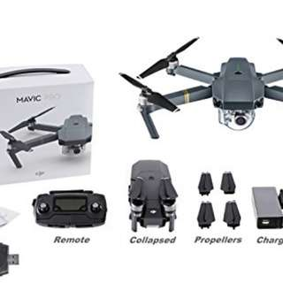 Dji Mavic Pro Drone Bundle with box and accessories