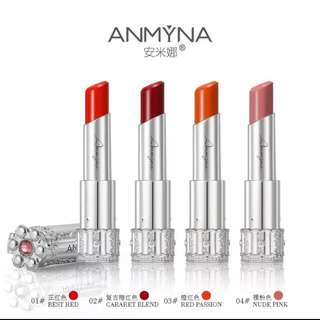 🎀Anmyna Lipstick🎀安米娜口红  ⛤Limited Edition. While Stock Last. Specially Manufactured For 8yrs Anniversary   4 Colours Available.  Best Red Nude Pink Passion Red  Cabaret Red