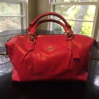 Authentic Coach Leather Pink 2ways Bag