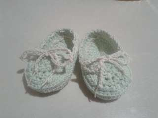 Crocheted Baby Shoes / loafers Cotton