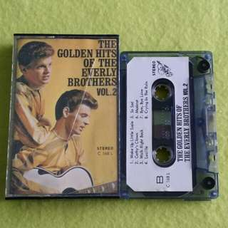 EVERLY BROTHERS.  the golden hits of vol.2. Cassette tape not vinyl record