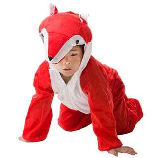 Deluxe Children Red Fox Big Head Dress Costume Animal Fairytale Outfit