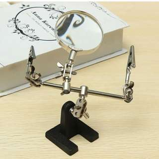 3rd Hand / helping hand Magnifier Station Stand Holder Helping Soldering Iron Magnifying Tool Inspection Tools