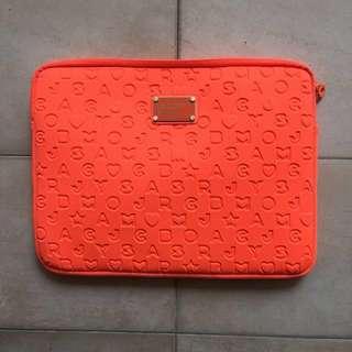 """Marc by Marc Jacobs orange neoprene 15"""" laptop case"""