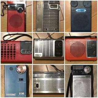 中古懷舊收音/卡式機