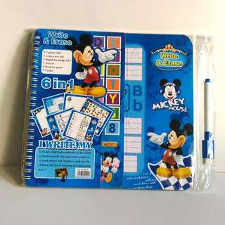 6 in 1 Mickey Mouse Write & Erase Activity Book