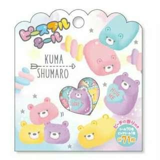 Shimmery Kuma Shumaro Sticker Pack