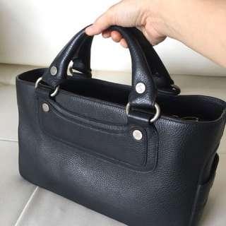 Celine Calfskin Handbag Black