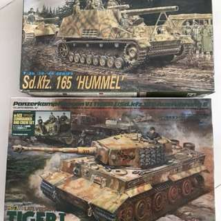 1/35 scale tamiya tiger and dragon hummel