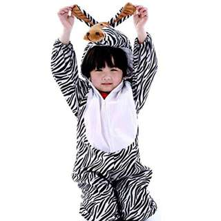 Deluxe Children Zebra Big Head Dress Costume Animal Fairytale Outfit 4-7y
