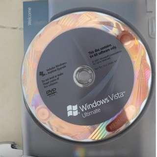 正版 Microsoft Windows Vista Ultimate 盒裝 (香港中文版)