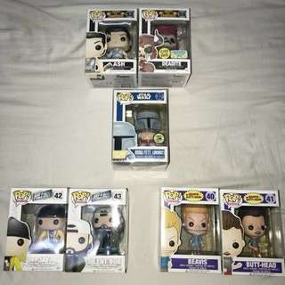 Funko Pop! Retired and Comic Con Exclusives