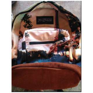 Jansport  Paris Special Rightpack with leatherbottom