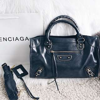 Balenciaga Metallic Edge Giant City Bag