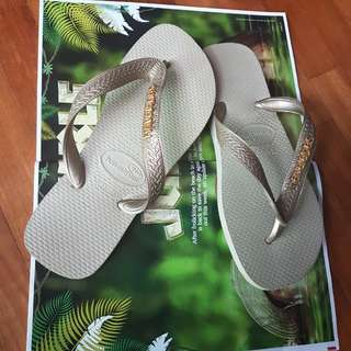 Havaianas Gold Flip-Flop Slippers
