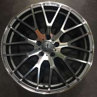 "19"" staggered rims fits mercedes Benz C and E class"