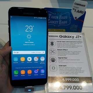 Samsung Galaxy j7+ kredit tnpa cc