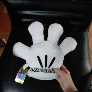 迪士尼 米奇 絨毛手套 填充玩具