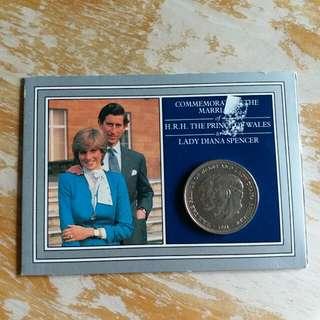 英國皇家鑄幣厰1981年英國皇子查里斯戴安娜结婚纪念幣套裝