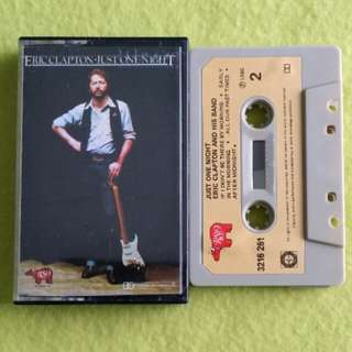 ERIC CLAPTON. just one night. Cassette tape not vinyl record