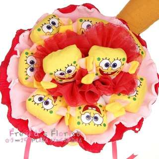 68 Summer Timer Spongebob Squarepants Soft Toy Flower Bouquet Valentine Day