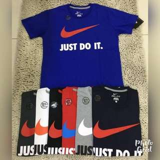 DRi-FiT T-SHiRTS NiKE JUST DO iT CHECK PRiNTED