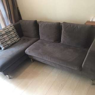 L-Shape 3.5 Seaters Fabric Sofa Couch 茲曼尼L型3.5座位布藝梳化