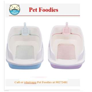 [ PET FOODIES ] Litter Box With Sieve