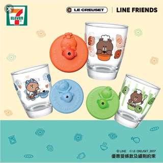 Line Friend Le Creuset Cup in Orange