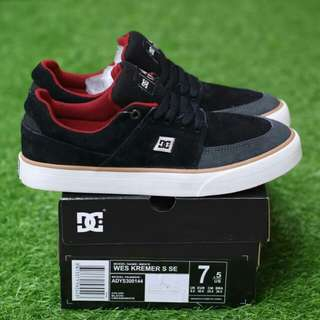 DC WES KREMER S BLACK CREAM RED PREMIUM BNIB MADE IN CHINA BAHAN CANVAS MIX SUEDE, RUBBER SOLE SIZE:40/41/42/43/44