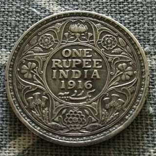 1916 One Rupee India