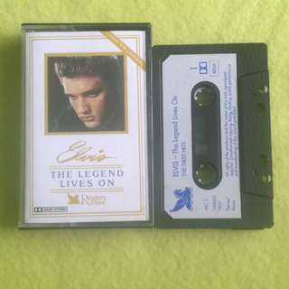 ELVIS PRESLEY. the legend lives on (the first hits/the hits of 1957 (over an hour playing time and by reader's digest) Cassette tape not vinyl record