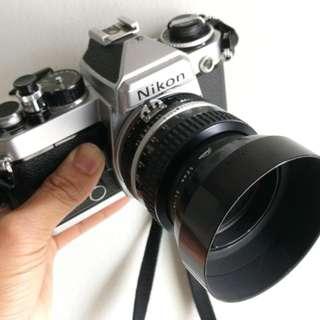 Nikon FE silver nikkor 50mm 1.4