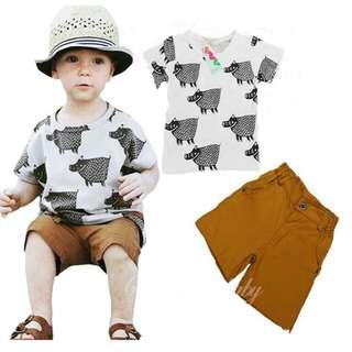 Little hippo baby boy set wear