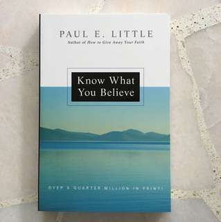 Christian Book: Know What You Believe (Paul E. Little)